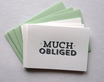 Much Obliged Thank You Card Set