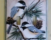 Switch Plate Cover with chickadee