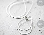 Petal or Droplet Creoles silver earrings