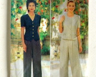 Ladies' Tops and Slacks - Butterick 4004 - Size 6-8-10 Designer Sewing Pattern