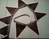 CUSTOM ORDER for Cindy- Burlap & Chalkboard Fabric Banner - 7 pennant