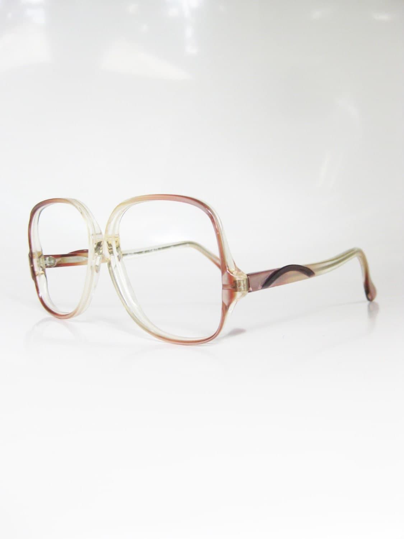 Glasses Frames Pink : 80s Pink Eyeglasses Oversized Geek Chic Eyeglass Frames Womens