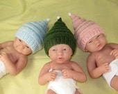 Instant Digital File pdf download madmonkeyknits Preemie, Tiny and Newborn baby Little Star Christmas Hat pdf knitting pattern
