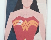 Retro WONDER WOMAN SUPERHERO Luggage Bag Tag Personalized
