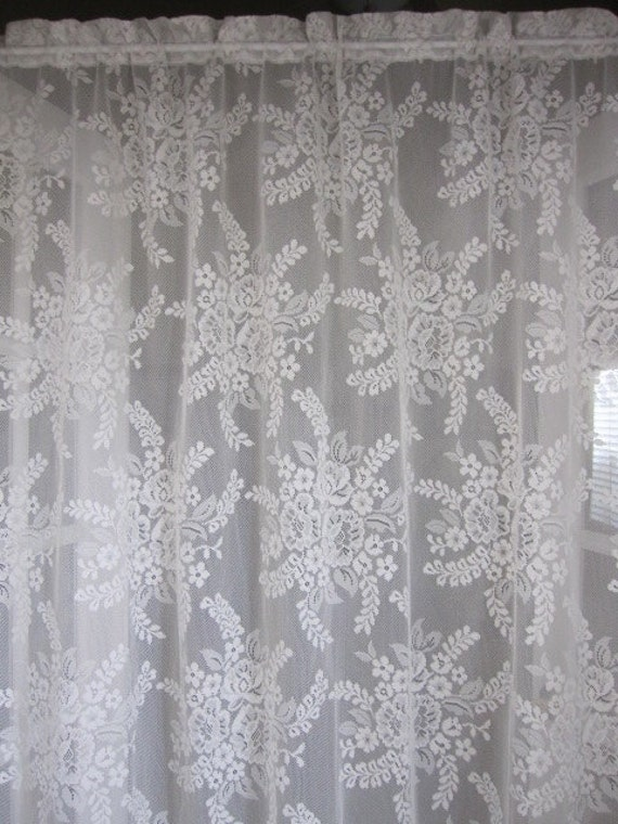 white curtains lace