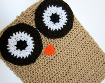 Instant Download iPad Owl Cover Crochet Pattern