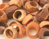 Faceted Hardwood Rings