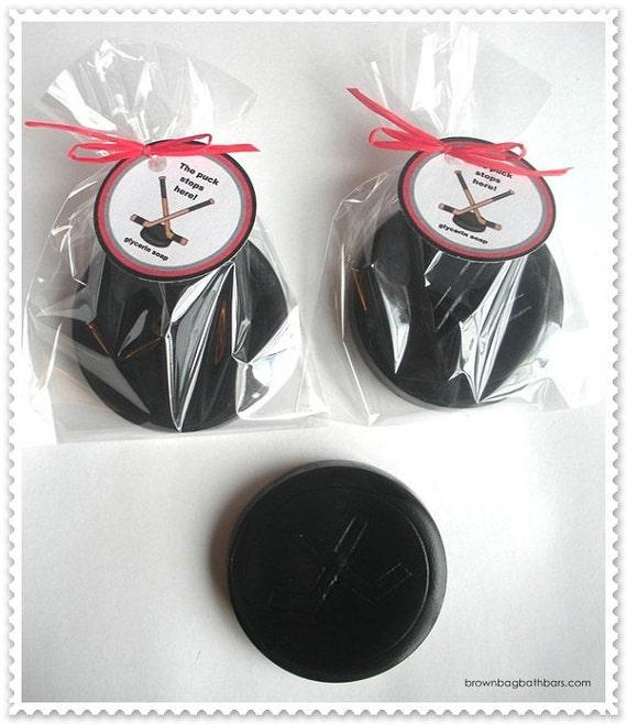 3 Hockey Puck Hat Trick Hockey Sticks Soaps