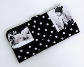 Womens Billfold Photo Picture Patchwork Wallet Gift Black and White choice of fabric