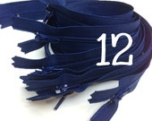 12 inch navy zippers wholesale, Ten pcs, YKK color 919, dress, all purpose zippers