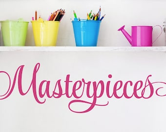 Masterpieces Wall Decal - Childrens Playroom Wall Decals -Childrens Art -Playroom Decor