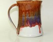 Mug Ceramic Pink and Orange Ceramic Sunset Fire Mug Large 18oz
