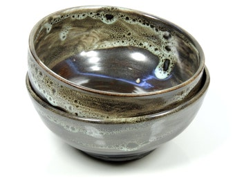 Tiny Ceramic Bronze Bowl with Melted Marshmallow Single or Pair Option Available to Ship