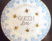 Queen Bee Vintage Decorated Plate