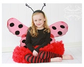 Red and Black Striped Girls Halloween Leg Warmers