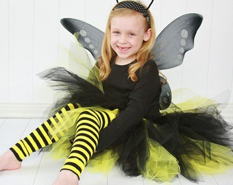 Black and Yellow Striped Girls Halloween Leg Warmers