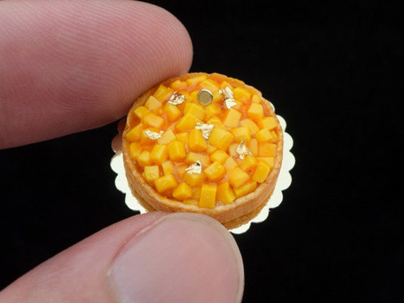 Tarte à la Mangue - French Mango Tart - Miniature Food in 12th Scale