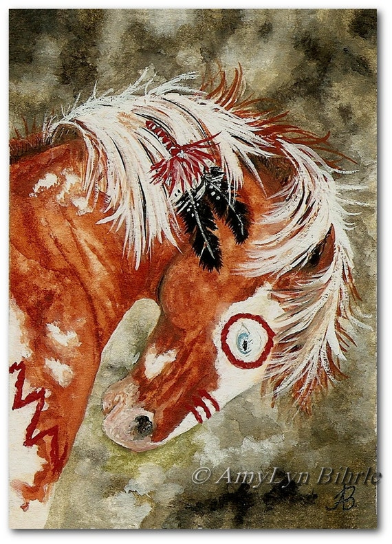 Mustang horse painting - photo#53
