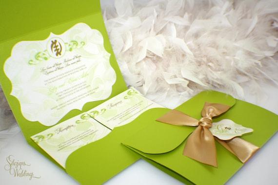 African Wedding Invitation: Nyame Ye Ohene African Symbol Wedding Invitations