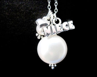 Sterling Silver Niece Coin Pearl Necklace