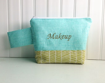 Custom Makeup Bag - Personalized  Cosmetic Bag - Made to Order