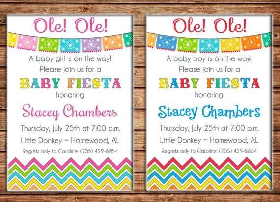 Fiesta Baby Shower Invitations could be nice ideas for your invitation template