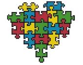 Puzzle Piece Heart Cross Stitch Pattern