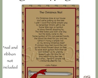 Christmas Nail 5 x 7 Card Fronts - Digital Printable - Immediate Download