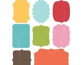 Everyday Labels Digital Clipart Clip Art Illustrations - instant download - limited commercial use ok