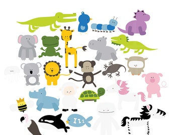 A-Z Buddies Digital Clipart Clip Art Illustrations - instant download - limited commercial use ok