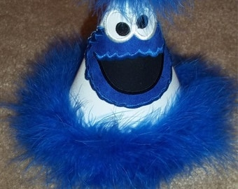 Blue Monster Party Hat