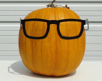 Pumpkin JackOLantern Metal Art Nerd Glasses - Free USA Shipping