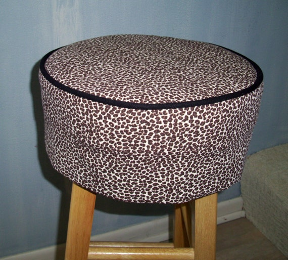Leopard Round Barstool Slipcover and Cushion Bar Stool : il570xN4837593942eqv from www.etsy.com size 570 x 514 jpeg 103kB