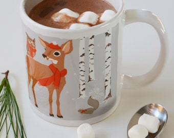 Holiday Gift, Office Gift, Coffee Mug, Mug for Kids, Kids Dinnerware, 11 oz. coffee cocoa ceramic mug
