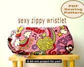 Sexy Zippy Wristlet PDF Sewing Pattern | Bag Sewing Pattern | Purse Sewing Pattern | Zipper Pouch Pattern | Curvy Zip Pouch Pattern