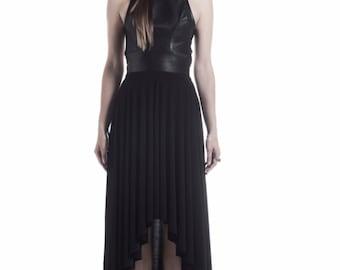 Leather  gala dress