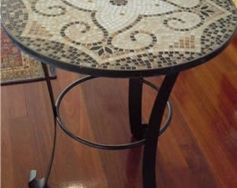 Mosaic Table - leadlight glass