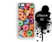 iPhone 5C Cereal iPhone 5C Fruit Cereal Loops of Fruit Phone Case  Trim Color Choice