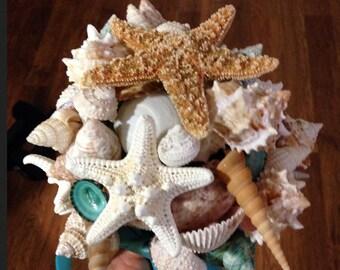 Seashell Wedding Bride Bouquet Sea Shell Destination Beach