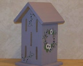 Lavender Butterflyhouse With Hand Painted Flowers