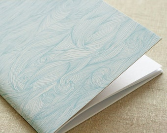 Waves Notebook – Blue