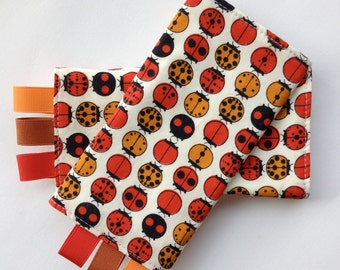 ORGANIC Sucking Pads -Ladybugs by Charley Harper for Birch-these fit Ergo, Tula, Mei Tai, Beco, Boba, BabyHawk and more