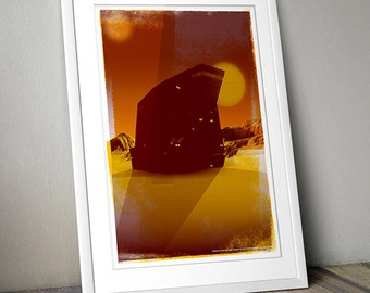 Star Wars Inspired Print (SANDCRAWLER) A3 - 2012