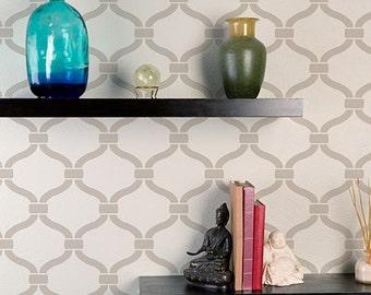 Heritage Grill Allover Stencil - reusable stencil patterns for walls just like wallpaper - DIY decor