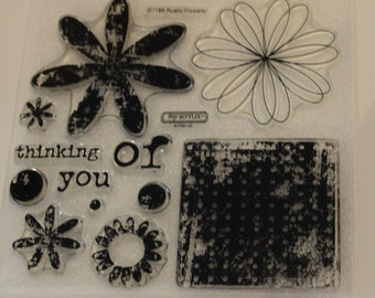 CTMH Rustic Flowers (D1186) Clear Acrylic Stamp Set flowers