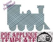 Applique Template - Train
