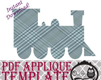Applique Template - Train