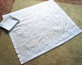 Curtains Vintage Curtain Drapery SHEER All White 2 Flat Panels