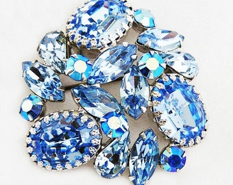 Regency Icy Blue Brooch
