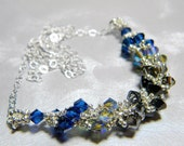 "Capricorn Zodiac Lucky Colors Swarovski Crystal Necklace Beadweaving Sterling Silver - ""The Goat"""